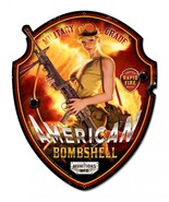 American Bombshell Plasma Cut Greg Hildebrandt Metal Sign - $35.00