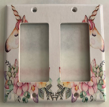 Unicorn Flower Light Switch Outlet Toggle & more Wall Cover Plate for Home decor image 6