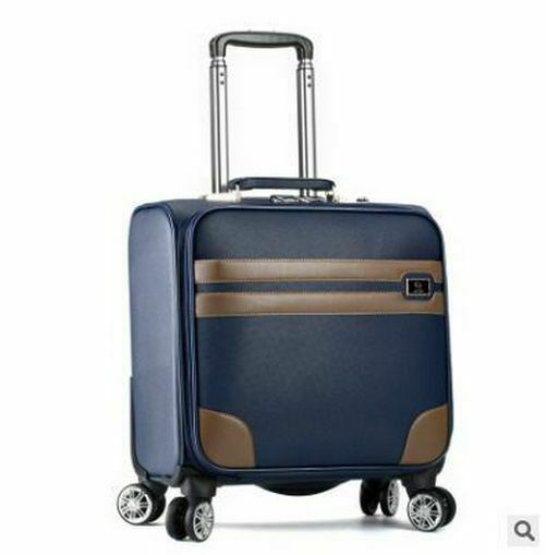 Men Travel Luggage Business Spinner Rolling On Wheels Carry On Trolley Suitcase