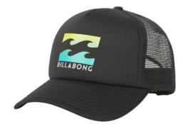 Billabong Trucker Snapback Cap Hat Podium Black & Lime Mesh - $18.80
