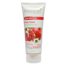 NEW Petal Fresh Botanicals - Age Defying FACIAL SCRUB - ALOE & POMEGRANA... - $13.76