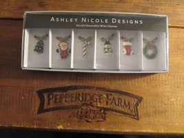 Ashley Nicole Designs 6 Christmas Wine Charms NEW - $14.84
