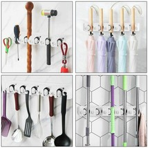 Durable Wall-mounted  Decorative Mop Holder Hanger w/5 Positions - €20,59 EUR