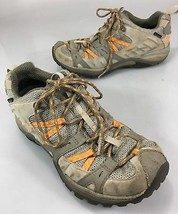 Merrell Womens 8 Hiking Trail Shoes Brindle Aluminum Vibram Soles Waterp... - $53.41