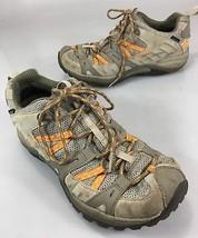Merrell Womens 8 Hiking Trail Shoes Brindle Aluminum Vibram Soles Waterproof - $53.41