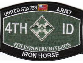 "4.5"" Army 4TH Infantry Mos Iron Horse Embroidered Patch - $23.74"