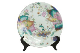 """Beautiful Chinese Tobacco Leaf Style Porcelain Plate 12"""" - $128.69"""