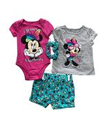 Disney Minnie Mouse 4 Pieces Baby Girls Clothing Set,100% Cotton(5 Diffe... - $9.99