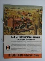 1945 International Harvester Crawler Tractor Orig Ad  Airport Constructi... - $8.66