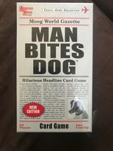 Man Bites Dog The Hilarious Headline Card Game Fun Party Family SEALED - $13.85