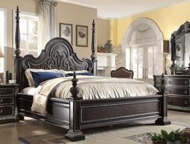 McFerran B5189-Q Ebony Gothic Queen Poster Bed ... - $1,515.00