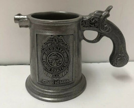 Vintage Pewter Flintlock Cuming Co Nebraska Sheriff Herman Herman Stein Mug - $49.45