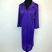 Vintage Vanity Fair Nightgown or Robe size M Purple Nylon Embroidered US... - $14.95