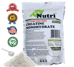 Creatine Monohydrate 100% Pure Powder 1000g (2.2 lb) Micronized by FC NUTRI - $16.35