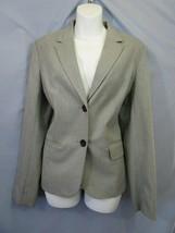 Banana Republic Womens 12 L Suit Blazer Jacket Gray Pleats Career Busine... - $36.00