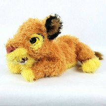 "Disney Store The Lion King Simba 12"" Plush Shaggy Fur Lying Down Stuffed... - $48.37"