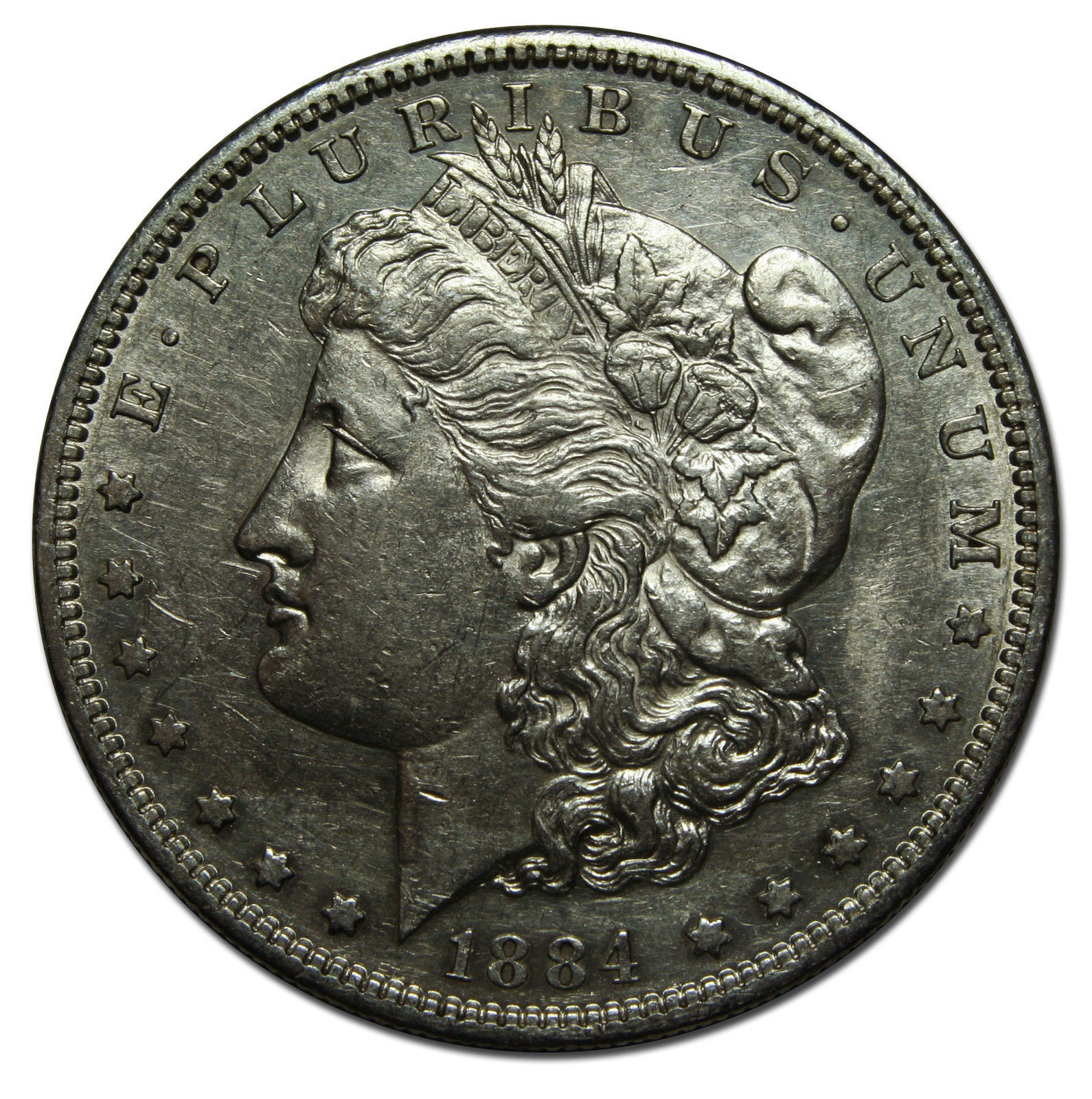 1884S MORGAN SILVER DOLLAR COIN Lot# C 15