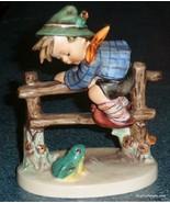 """Retreat To Safety"" Goebel Hummel Figurine #201/I TMK5 - Boy With Frog -... - $155.19"