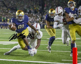 ** Miles Boykin Signed Photo 8X10 Rp Autographed Notre Dame !! - $19.99