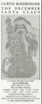 December Santa Claus Curtis Boehringer Cross Stitch Pattern Mini Leaflet... - $3.57