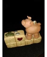 I Love Pigs Resin Figurine By Suzi Skoglund Blossom Bucket  #2752 - $9.00