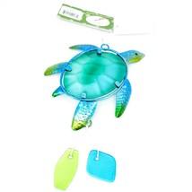 Metal & Glass Blue Green Sea Turtle Suncatcher Sun Catcher Ornament Decoration image 1