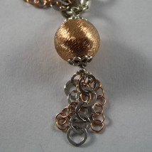 .925 RHODIUM SILVER, YELLOW AND ROSE GOLD PLATED BRACELET WITH CIRCLES image 2