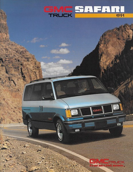 1991 GMC Truck SAFARI sales brochure catalog 91 US SLT SLE SLX