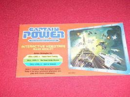 1987 Captain Power Interactive Videotape Rules Booklet 0007-0461 Mattel ... - $14.01