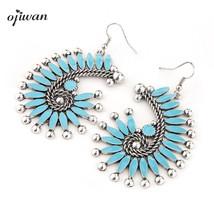 Bohemian Earrings Hippie Indian Native American Jewelry Navajo Vintage G... - $11.09
