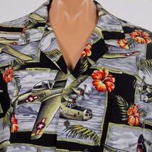 Kalaheo Hawaiian Aloha Shirt Mens 3XL WWII Planes Fighters Bombers - $30.84