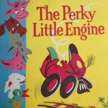 VINTAGE CHILDREN'S BOOK 1960 THE PERKY LITTLE ENGINE READING LABORATORY - $12.36