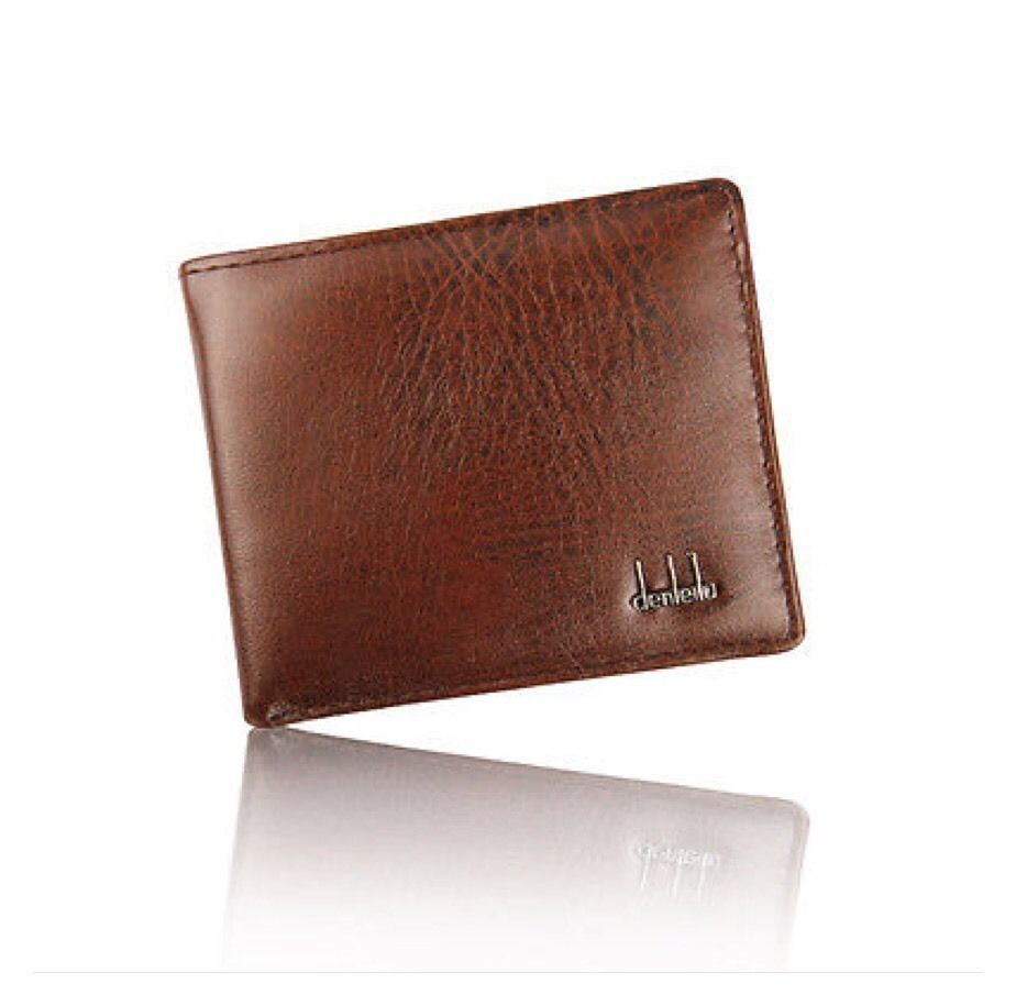 Mens Wallet Leather Trifold Wallet Credit ID Card Slim Wallet AH1