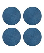 Northeast Home Goods Casual Round Textured Placemats, Set of 4 (Blue) - $25.97