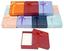 Cardboard Jewelry Bangle Gift Boxes With Rosebug Bows in Assorted Colors... - $13.18