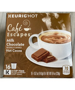 Cafe Escapes Milk Chocolate Hot Cocoa Keurig K-Cups - 12 Pods BEST BY 12... - $19.79