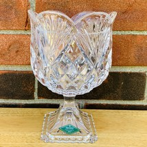 "Shannon Crystal Glass Designs of Ireland Lead Crystal 7"" Vase Candy Bowl - $23.75"
