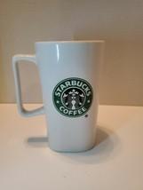 "STARBUCKS COFFEE 16oz LOGO MUG 2007 FROM STRINGERS GIFT BASKET 6"" TALL - $9.89"