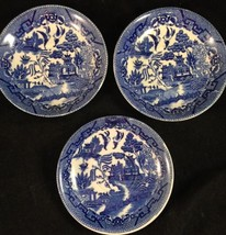 """Lot Of 3 Vintage Blue Willow Plates Saucers 6"""" Made In Japan - $14.85"""