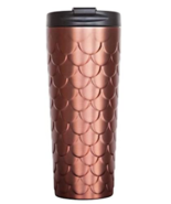 NWT 2017 Starbucks Holiday COPPER SCALES Stainless Tumbler Coffee Cup Ro... - $75.99