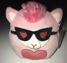 "Squishmallow 8"" Pink Heart Llama Kip NWT 2021 Valentines Squad RARE Find - $19.95"