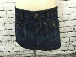 Gap Womens Sz 6-8 Jean Skirt Denim Straight Snap-Down Pockets Short Mini - $14.84