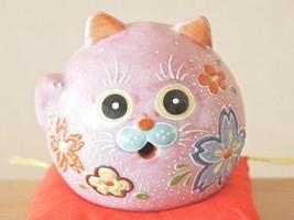 Mini Maneki Neko Lucky Cat Yakushigama Pottery Set of 6 Made in Japan Manekineko