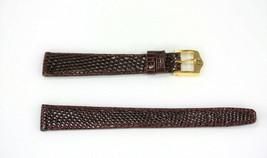 Ladies Gucci 13MM Genuine Burgundy Leather Watch Band Lizard Grain - $89.95