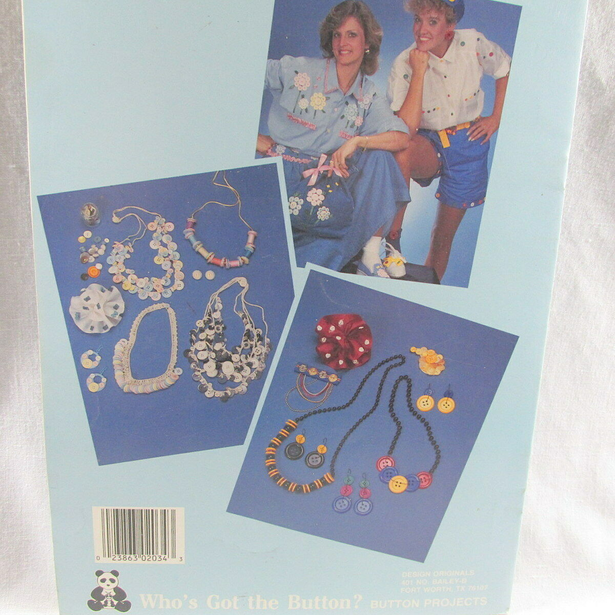 Who's Got the Button 36 Projects New Suzanne McNeill 1988 Original Designs 2034 image 3