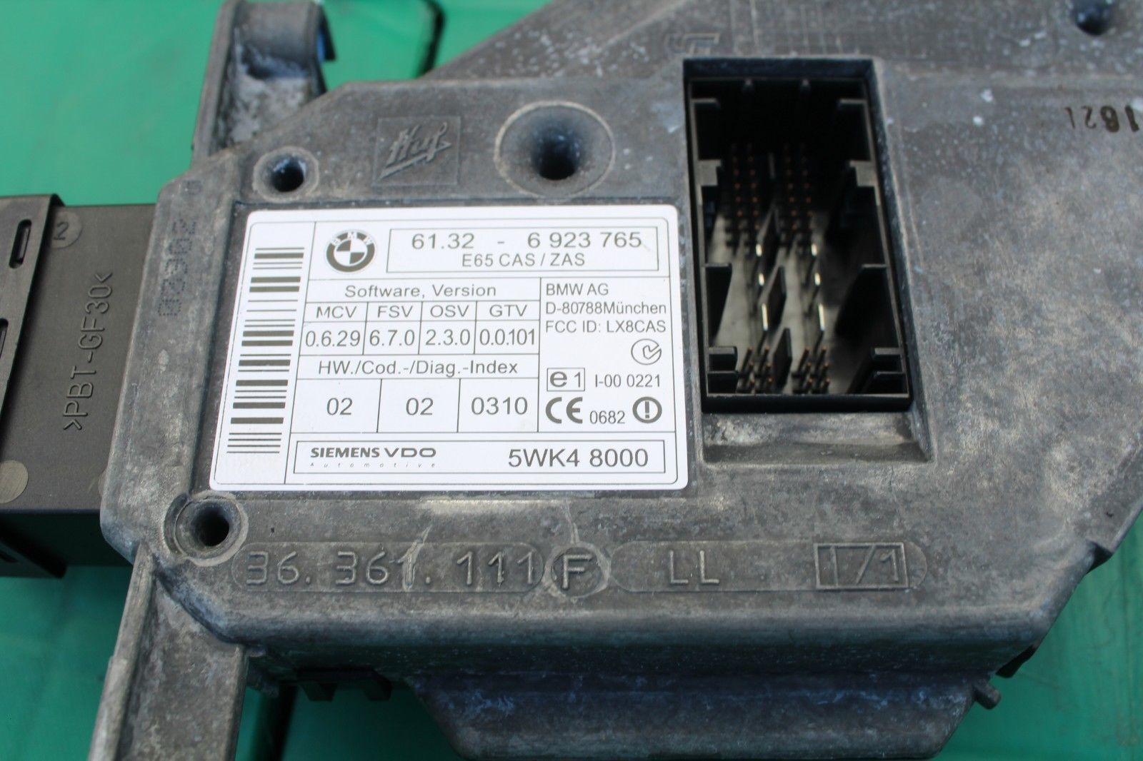 2002-2005 BMW E65 745LI 745I IGNITION SWITCH KEY ENGINE START STOP BUTTON C311