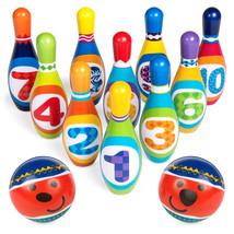 BCP Kids Foam Bowling Toy Set w/ 10 Pins, 2 Balls - $38.00