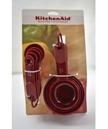NEW KitchenAid Measuring Cup/Spoon Set - 9-Piece Burgundy Red Soft Grip ... - $14.20