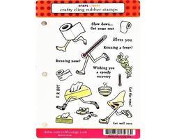 Craft Lounge Running Sick Rubber Stamp Set #CRM004