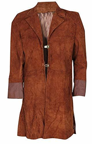 Mens Firefly Nathan Fillion Malcolm Reynolds Suede Leather Coat